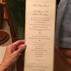 Gluten Free Menu for afternoon tea at the Plaza Hotel