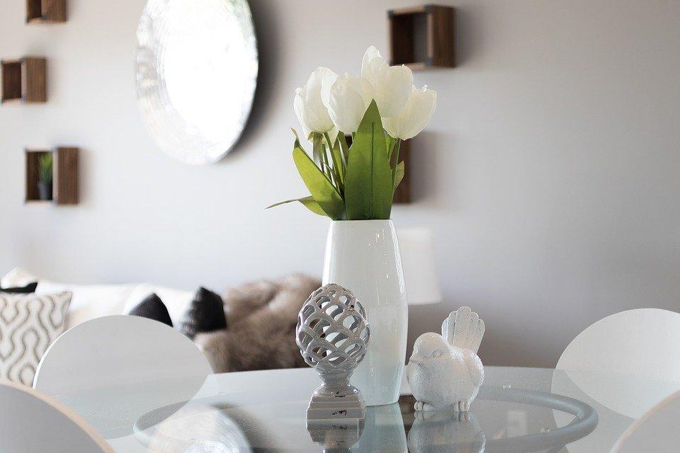 Staging, Real Estate, Tulips, White, Interior