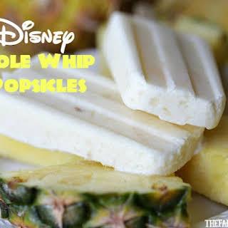 Disney Dole Whip Popsicles.