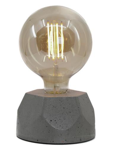 lampe en béton gris design héxagone création  fait-main en atelier français par la créatrice Junny