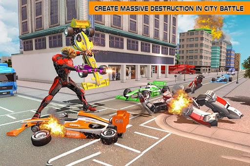 Cheetah Robot Car Transformation Formula Car Robot filehippodl screenshot 1