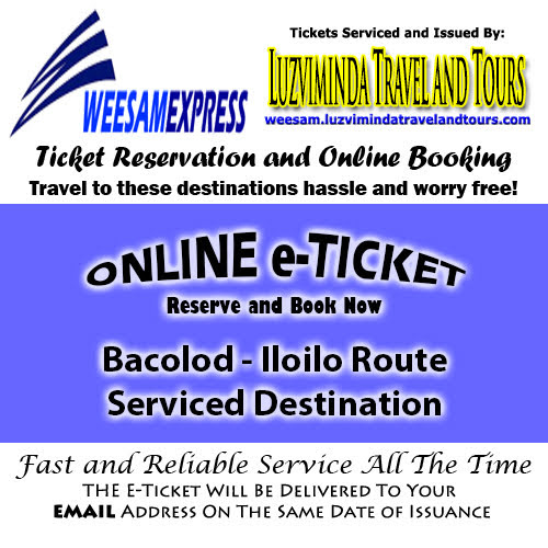 Weesam Express Bacolod-Iloilo Ticket Reservation and Online Booking