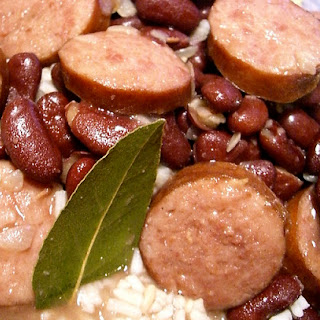 New Orleans Red Beans and Rice with Andouille Sausage.