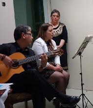 Photo: Lesung Angelika Ditha-Morosowa und Finissage Athina T./ Lior Hatzis am 13.5.2014. Foto: Peter Skorepa- Marios Anastasiou, Helen Dorros