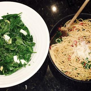 Spaghetti Aglio, Olio Avec Bacon