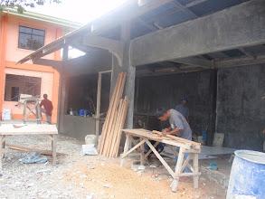 Photo: Mamburaon koulun kantiin rankenteilla