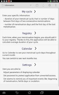 App Menstrual Ovulation Calendar APK for Windows Phone