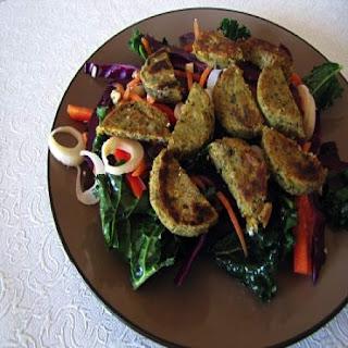 Sesame Kale Salad with Organic Falafel