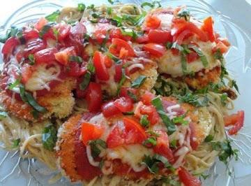 Chicken Parmesan & Creamy Tomato & Basil Spaghetti Recipe