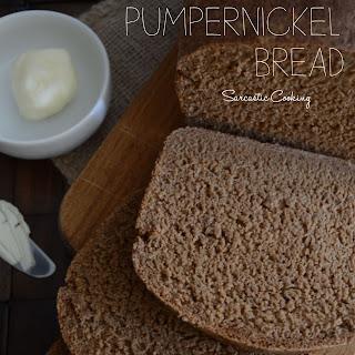 Homemade Pumpernickel Bread.
