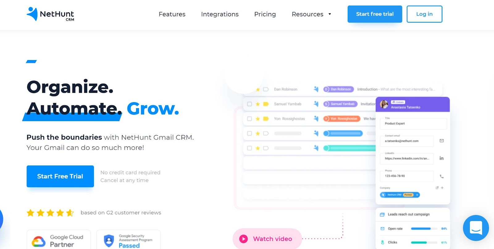 nethunt home page