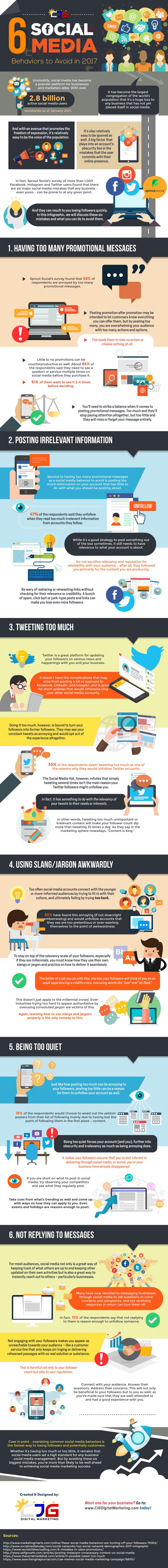 6 comportamientos en social media que deberías evitar a toda costa
