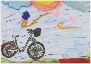 """Photo: praca Julii :""""Jeździmy rowerem, bo ... to zdrowie i jest nam przyjemnie"""""""