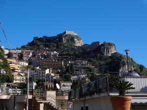 Photo: Saracen fortress atop Monte Tauro
