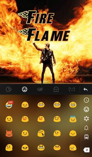Live 3D Fire Flame Keyboard Theme 6.8.18.2018 screenshots 3
