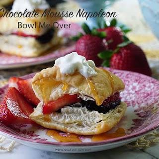 Dark Chocolate Mousse Napoleons.