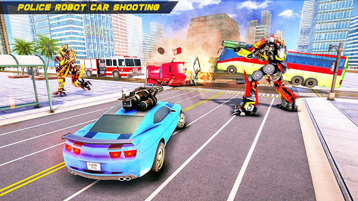 Bus Robot Car Transform War –Police Robot games apktreat screenshots 2