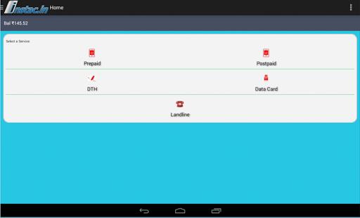 Instac B2B recharge app screenshot