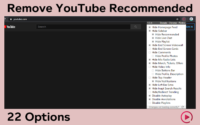 Remove YouTube Recommended Videos, Comments