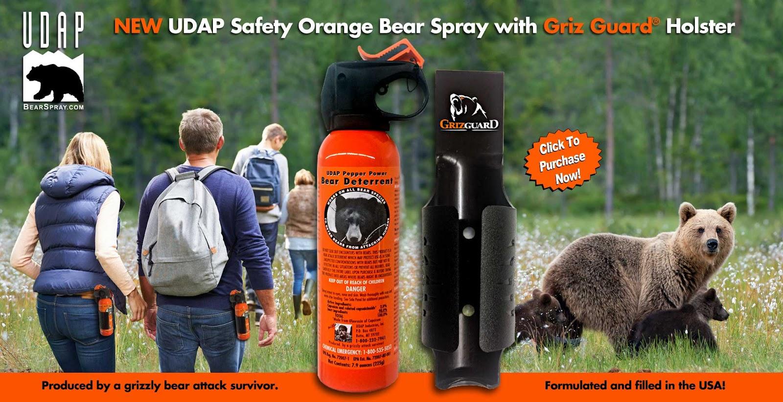 UDAP Logo and Bear Spray