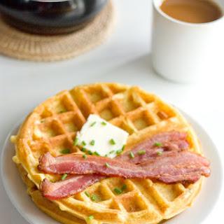 Savory Cheesy Chipotle Cornbread Waffles