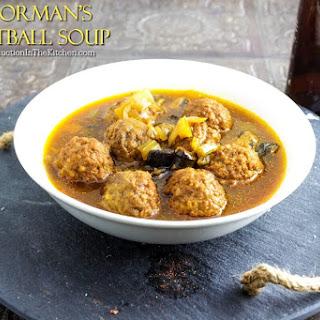 Poorman's Meatball Soup.