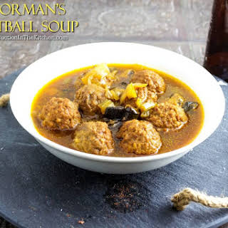 Poorman's Meatball Soup.