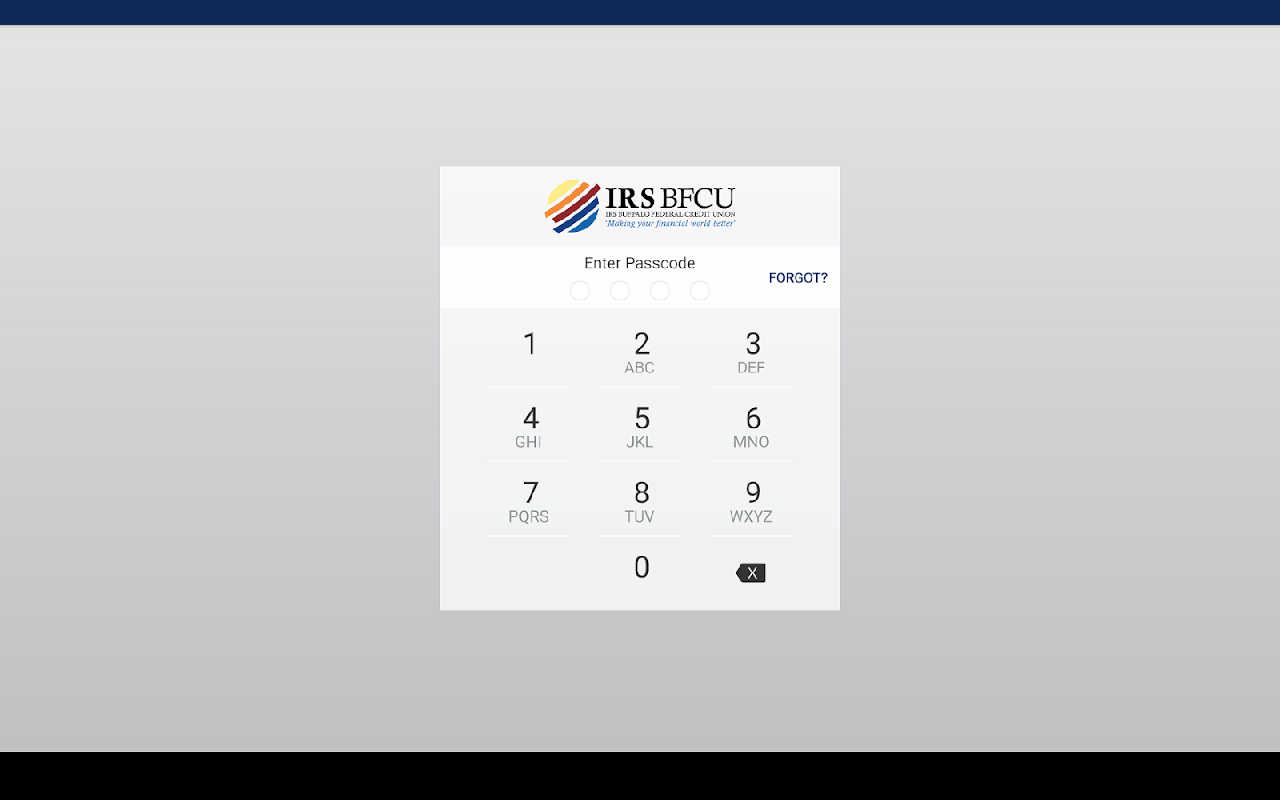 IRSBFCU- screenshot