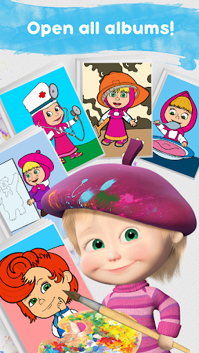 Masha and the Bear: Free Coloring Pages for Kids 1.0.3 screenshots 4