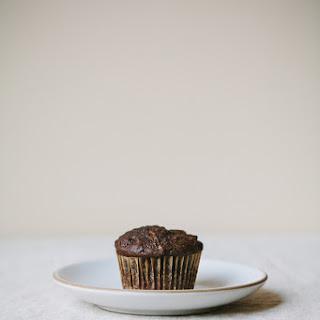 Chocolate Zucchini Coconut Oil Muffins