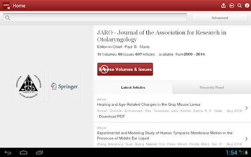 J Assn Research Otolaryngology- screenshot thumbnail
