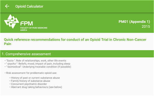 Opioid Calculator- screenshot thumbnail