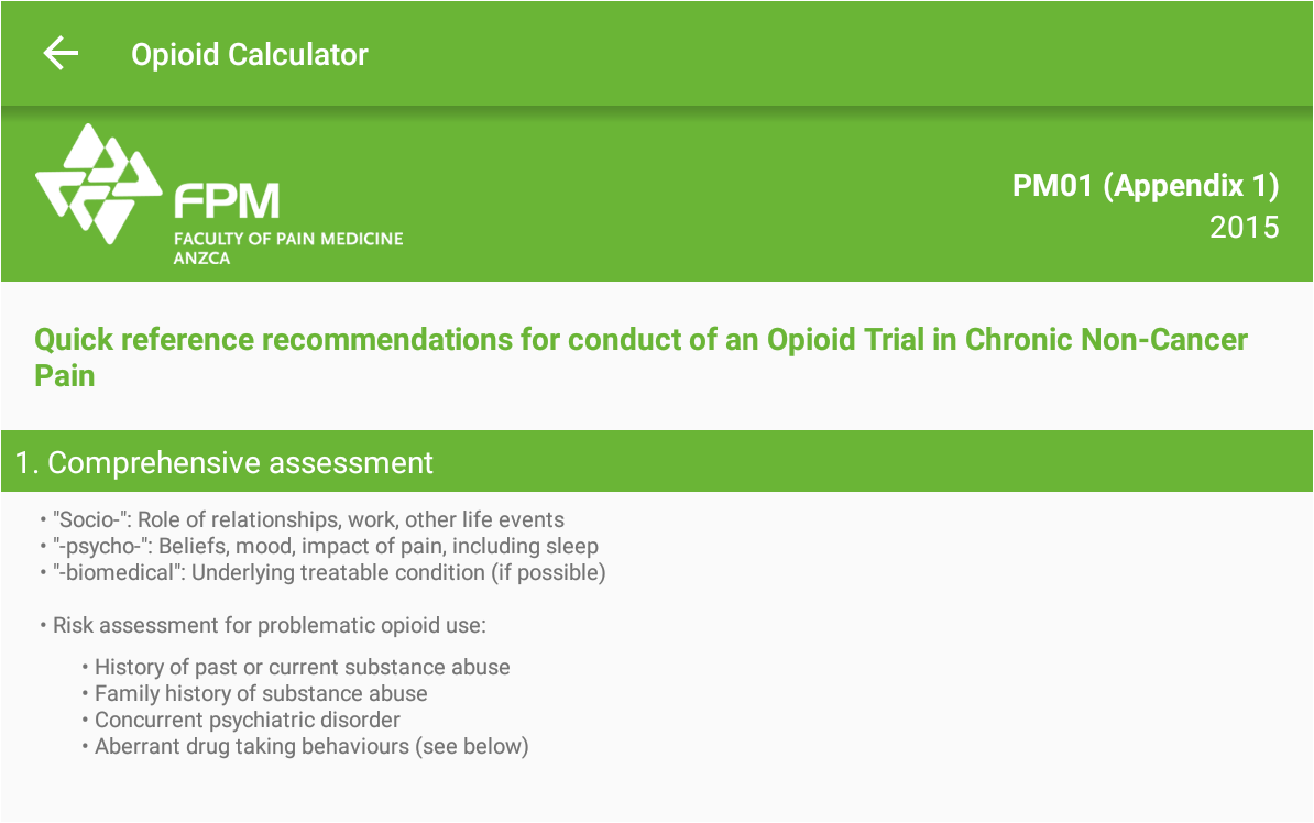 Opioid Calculator- screenshot