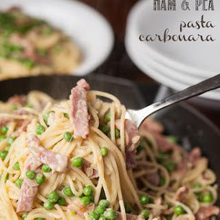 Ham and Pea Pasta Carbonara