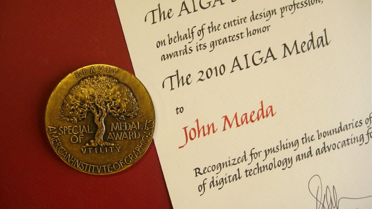 Maeda Accepts AIGA Medal