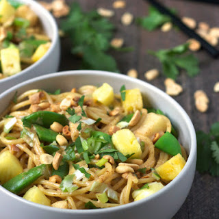 Coconut Sesame Noodles with Pineapple and Snap Peas