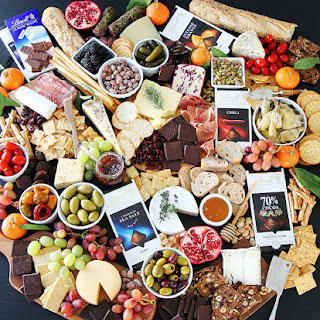 Cheese and Chocolate Board.
