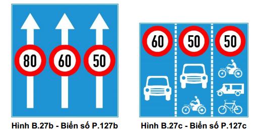Ở một số đoạn đường thì ô tô, xe khách, xe tải chỉ được phép chạy với vận tốc tối đa là 50km/giờ
