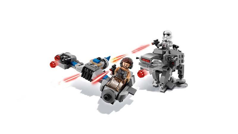 Contenido de Lego® 75195 Speeder Esquiador vs. Caminante de la Primera Orden