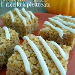 Halloween Pumpkin Spice Rice Krispie Treats