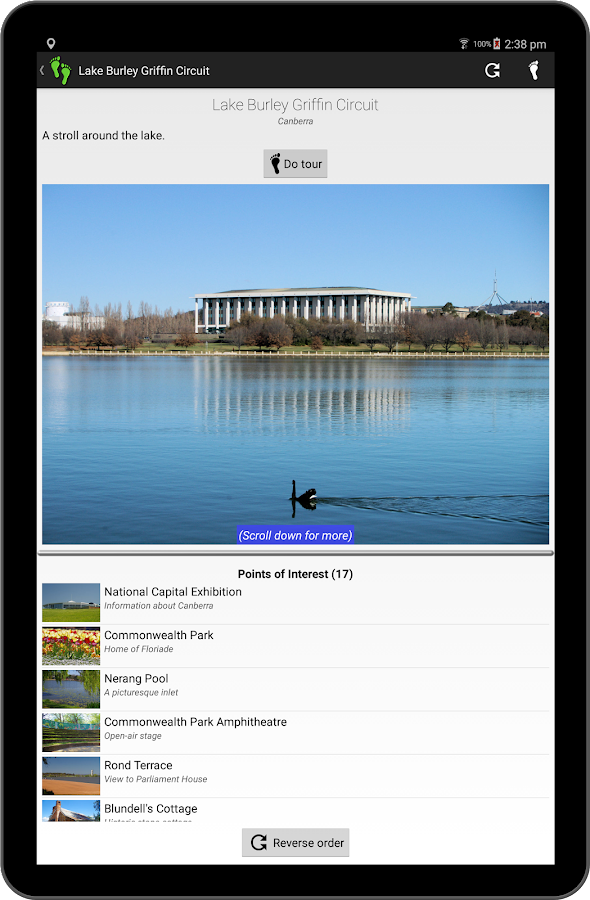 Tour Guide - Canberra- screenshot