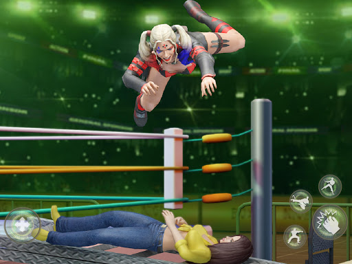 Women Wrestling Rumble: Backyard Fighting apkpoly screenshots 10
