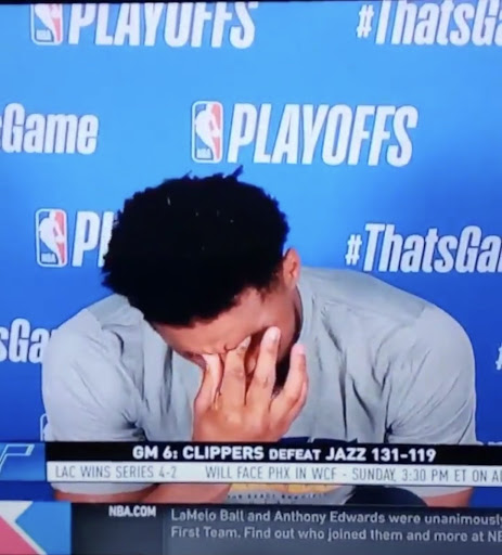 Donovan Mitchell's reaction to Terance Mann only missing six shots says it all about the Jazz's Game 6 loss