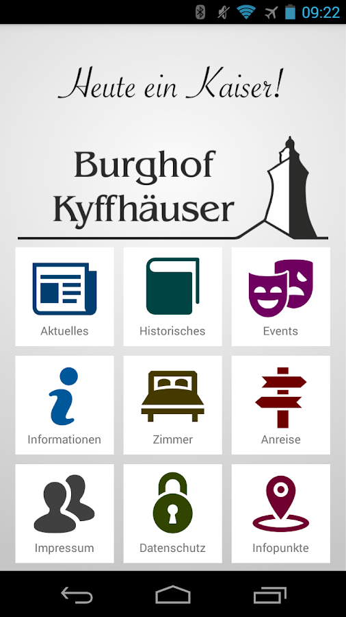 Burghof Kyffhäuser – Screenshot
