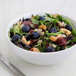 Blueberry Cashew Quinoa Salad