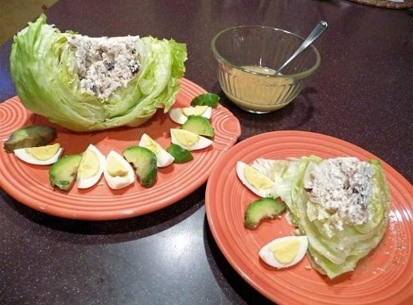 Caesar-cobb Style Chix Lettuce Wedges With Raisins Recipe
