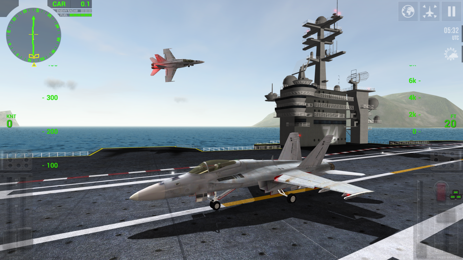 F18 Carrier Landing Lite- screenshot