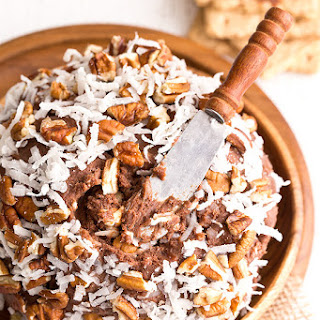 German Chocolate Cake Cheese Ball