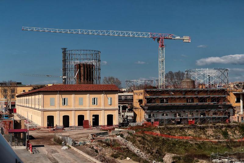 Durante e dopo il restauro di romano
