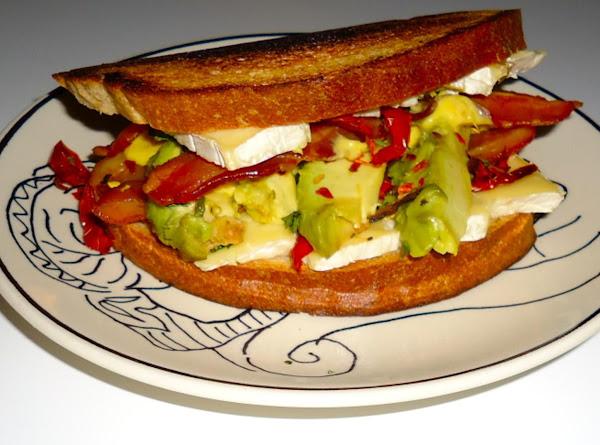 Fancy Nancy's Sun Dried Tomato, Avocado, Bacon, And Brie Sammie Recipe
